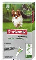 Капли Адвантикс собаки весом до 4кг 1шт