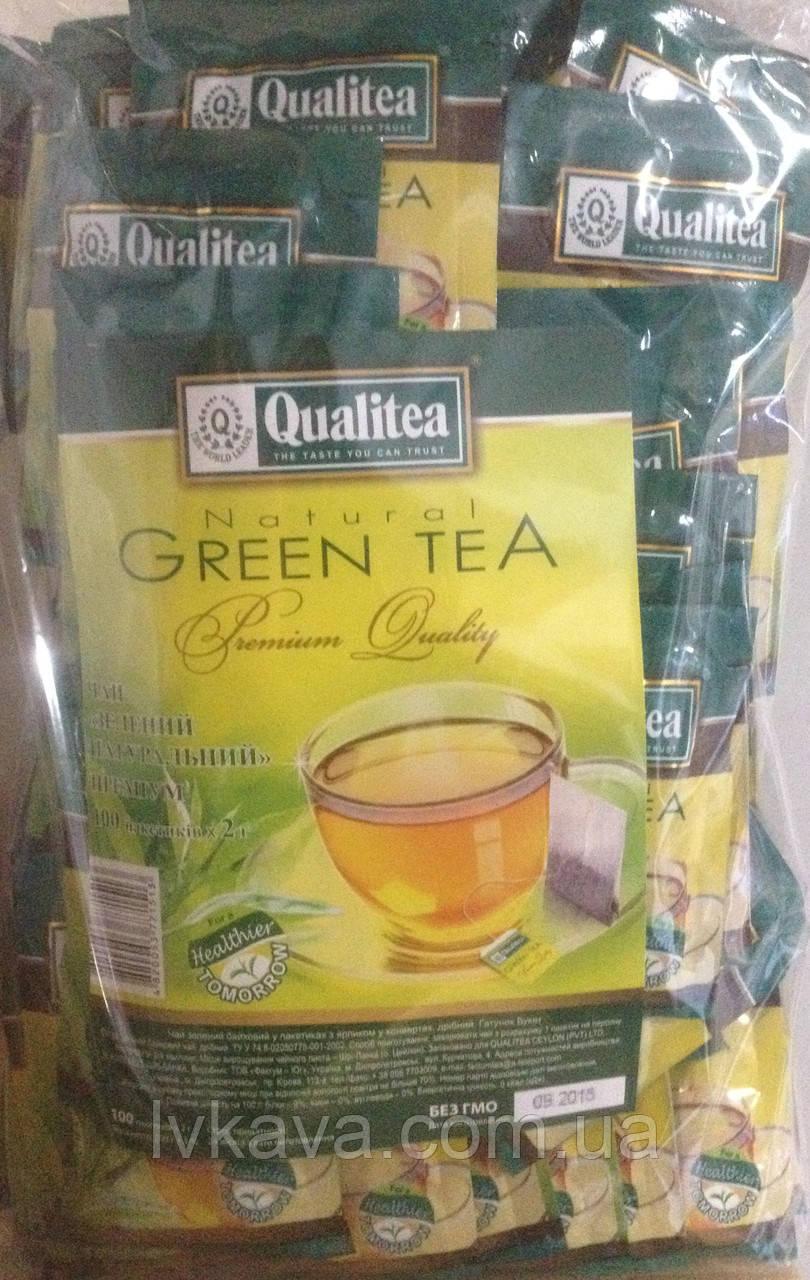 Чай  зеленый Qualitea, 100 пак