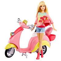 Набор кукла Барби блондинка на скутере