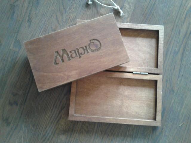 Коробки и расчетницы из дерева