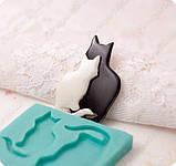 Эксклюзивный молд на 2-х котиков, для эпоксидной смолы., фото 4