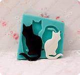 Эксклюзивный молд на 2-х котиков, для эпоксидной смолы., фото 2