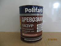 Алкидный цветной лак Древозахист Лазурь Полифарб 0,7 кг орех темный