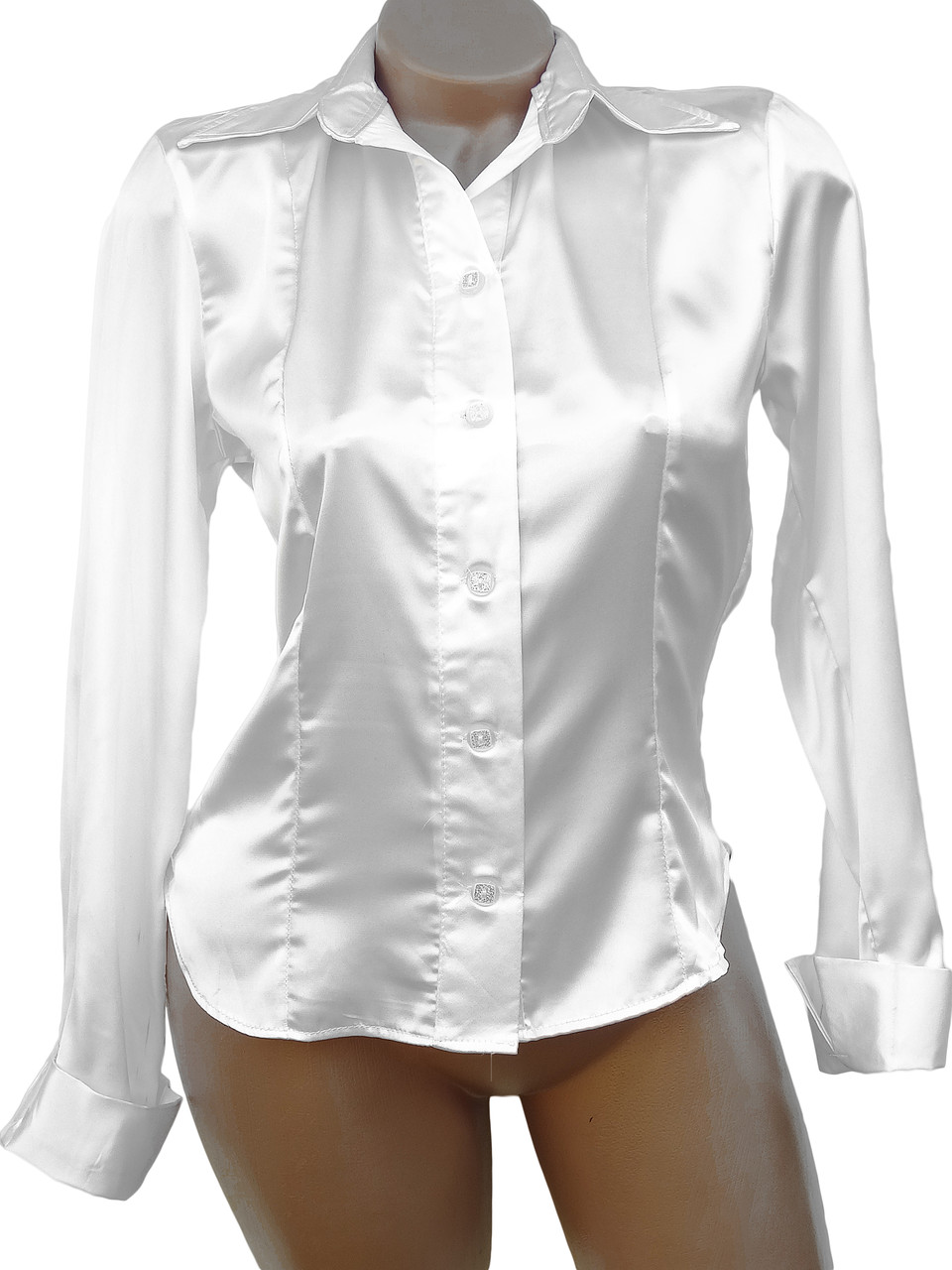 a795d5333d3a322 Женская атласная рубашка (48,50) - Женская одежда оптом, женская одежда  больших