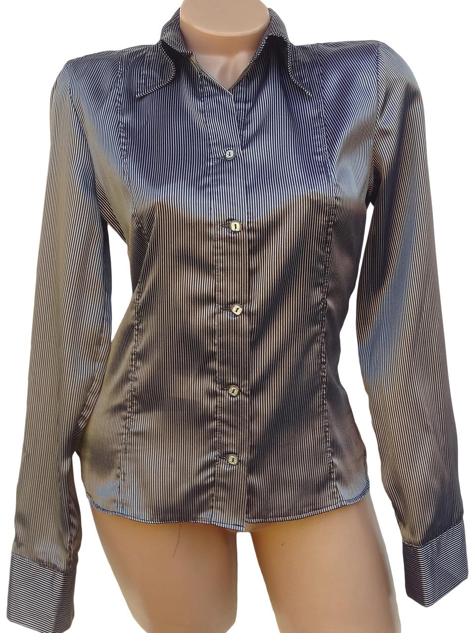 Классическая женская рубашка в полоски (в расцветках 38-44)