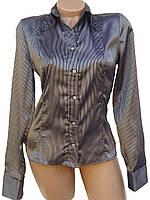 Классическая женская рубашка в полоски (в расцветках 38-46)
