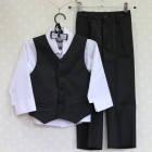 """Нарядный костюм для мальчика """"Кензо"""" (жилет+брюки+рубашка+бабочка), Yan Daniloff"""