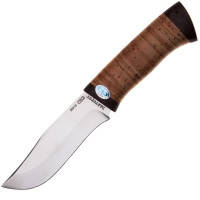 Нож А&Р Клычок-3, рукоять береза (длина: 26.0см, лезвие: 13.5см), ножны кожа