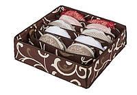 Коробочка для белья на 7 секций Горячий Шоколад