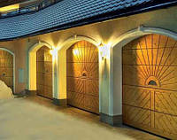 Деревянные секционные ворота Hormann LTH 40, фото 1