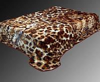 Леопардовый плед на кровать (акрил)