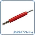 Отвертка для золотников двухсторонняя красная VT01-D