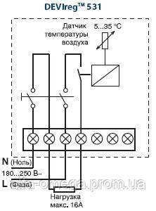 Терморегулятор для теплого пола DEVIregTM 531, фото 2