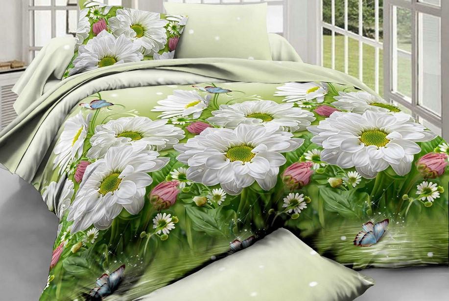 Полуторный набор постельного белья из Ранфорса №173 Черешенка™