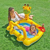 Детский бассейн с игрушками Весёлый жираф