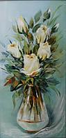 «Белые розы» картина маслом