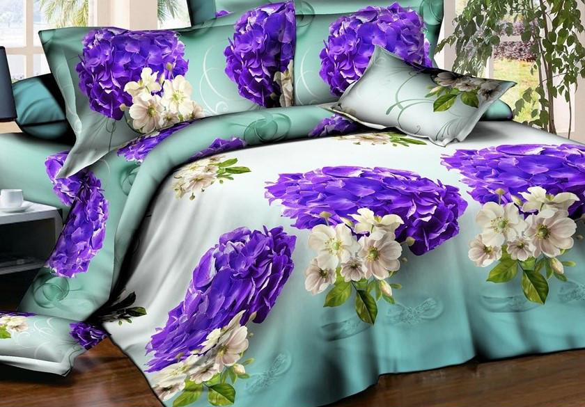 Полуторный набор постельного белья из Ранфорса №195 Черешенка™