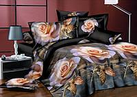 Полуторный набор постельного белья из Ранфорса №197 Черешенка™
