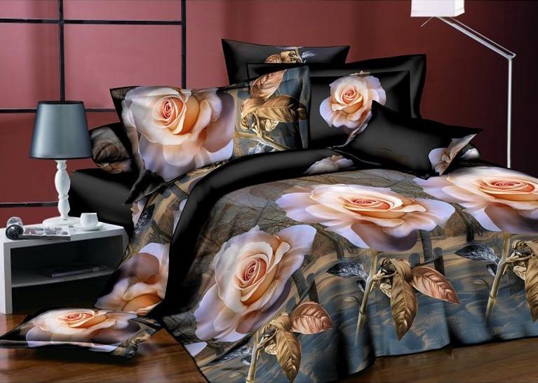 Двуспальный набор постельного белья 180*220 из Ранфорса №197 Черешенка™