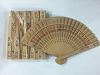 Веер деревянный 20*33 см 10 штук в упаковке