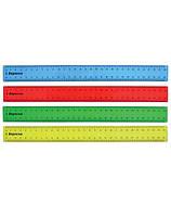 Линейка пластиковая цветная прозрачная 30 см 1 Вересня 370323