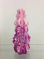 Свеча резная большая SRL-12 (Цвет фиолетовый с розовым)