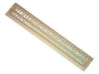 Линейка пластиковая дымчатая буквы и цифры 30 см ЛШ-300д СПЕКТР