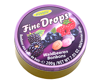 Леденцы Fine Drops Woogie со вкусом лісова ягода, 200 гр