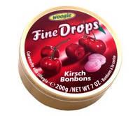 Леденцы Fine Drops Woogie со вкусом  вишневий льодяник, 200 гр