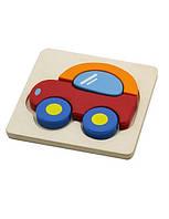 """Мини-пазл Viga Toys """"Машинка"""", развивающие пазлы, деревянные пазлы"""