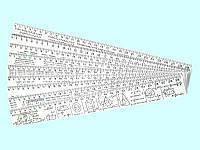 Линейка пластиковая таблица умножения 30 см Л-300у СПЕКТР