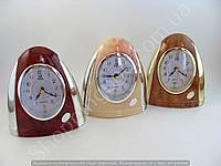 Настольные часы будильник Pearl 114161 эллипс подсветка арабские цифры шаговый ход разные цвета
