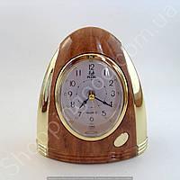 Настольные часы будильник Pearl PR6 эллипс подсветка арабские цифры шаговый ход разные цвета