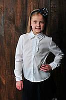 Школьная блуза для девочки белая
