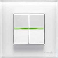 Выключатель 2 кл., перекрестный, белый цвет Zenit ABB NIESSEN, 2 мод.