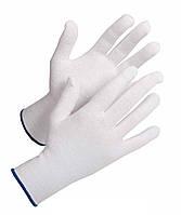 Перчатки покрытые точками ПВХ, белые