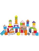 Набор кубиков Viga Toys (50 шт.,) набор строительных блоков, детский деревянные кубики