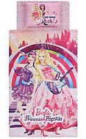 Детское постельное бельё ТАС Barbie Princess Popstar( Барби Принцесс Попстар)