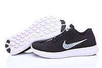 Кроссовки Nike Free Run Flyknit Black White, фото 1