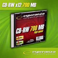 Диск CD-RW   Esperanza 700Mb/80min 12x    slim
