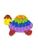 """Пазл 3D Viga Toys """"Черепашка"""" , развивающие пазлы, деревянные 3D пазлы"""
