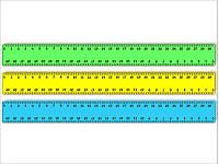 Линейка пластиковая цветная непрозрачная  ЛЦ-300 н СПЕКТР