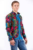 Рубашка классическая мужская из платка в стиле Матрешка