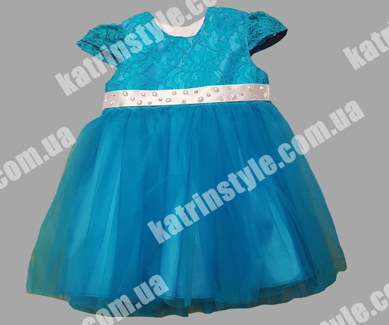 Очаровательное платье для девочек комбинированное с гипюром