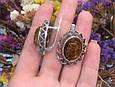 Серебряный перстень с янтарем и золотом, фото 6