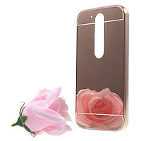Чехол накладка бампер Mirro-like для Motorola Moto G4 G4 Plus розовый