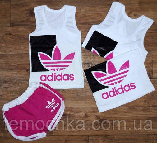 Майка+шорты Adidas. Малиновый.