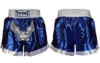 Трусы для тайского бокса UR CO-3875 (PL, р-р L-3XL, синий-белый)