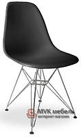 "Стул ""Eames DSR"" (Chrome) (ПЛ черный)"
