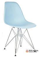 "Стул ""Eames DSR"" (Chrome) (ПЛ голубой)"